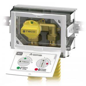 Sistema di distribuzione ed intercettazione linee GAS sottotraccia domestiche TECO