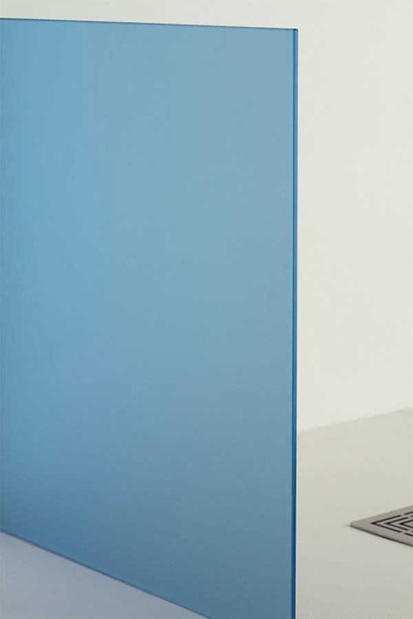 vetro satinato blu, idrosanitaria lecco