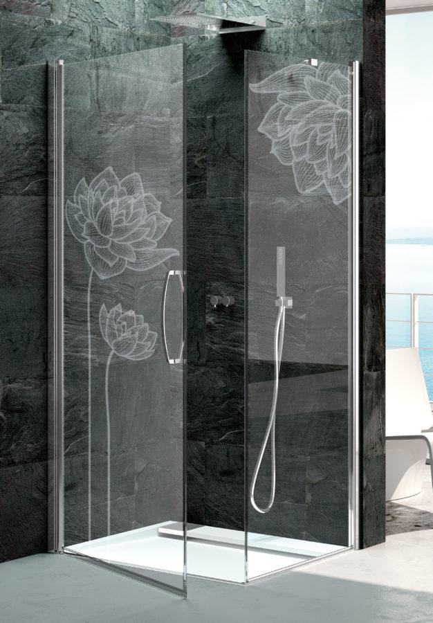 vetro sabbiato personalizzato, idrosanitaria lecco
