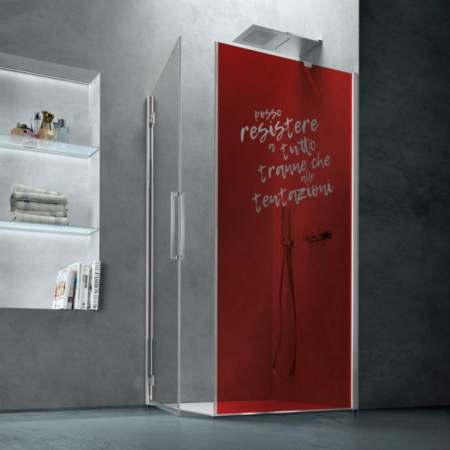 vetro colorato stampa digitale personalizzata , idrosanitaria lecco