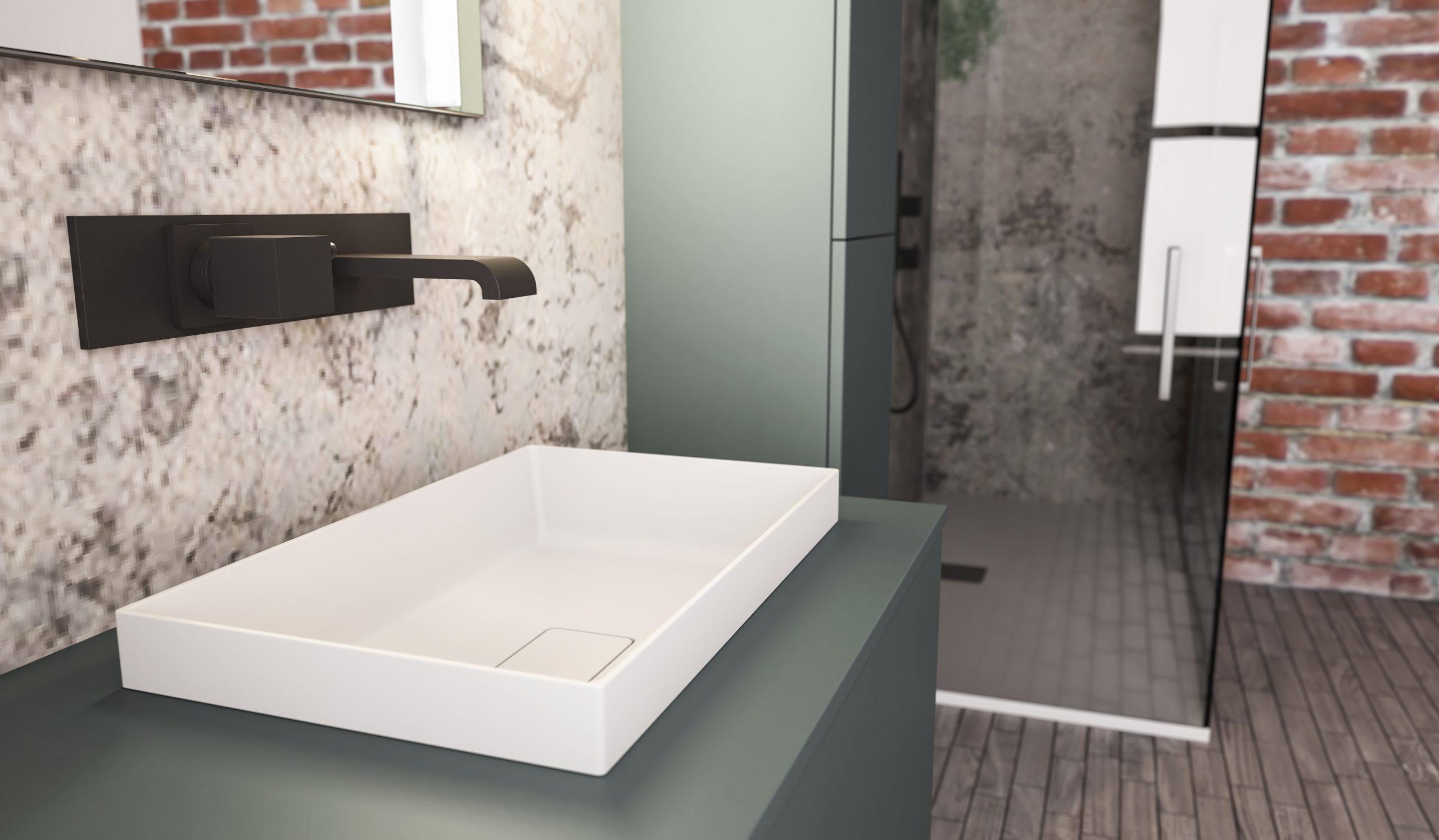 carta da parati bagno box doccia, idrosanitaria lecco