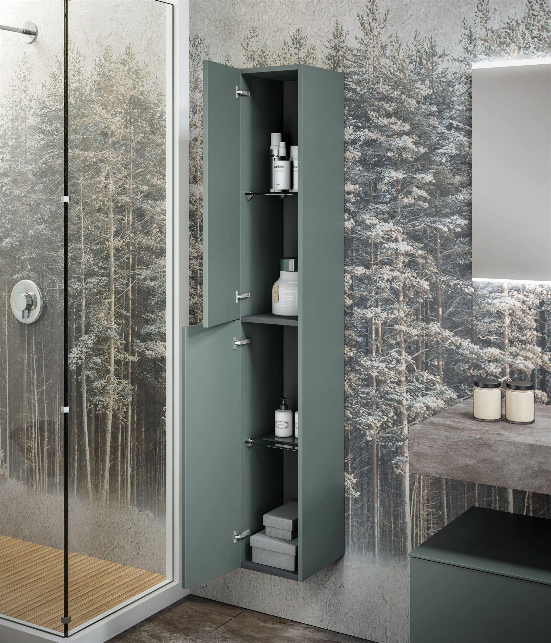 carta da parati per il bagno box doccia grafica alberi, idrosanitaria lecco