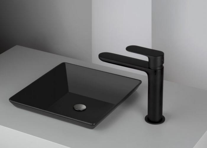 rubinetti bagno, miscelatore lavabo nero, idrosanitaria lecco