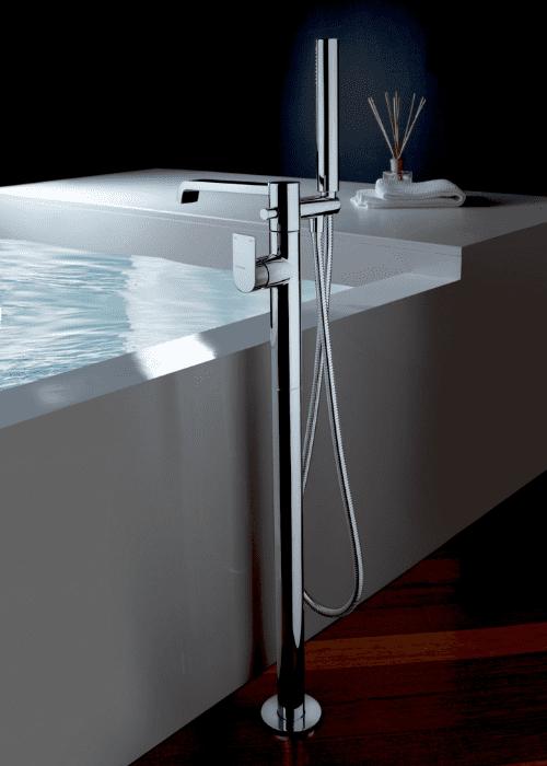 rubinetti bagno, miscelatore vasca a pavimento, Idrosanitaria Lecco