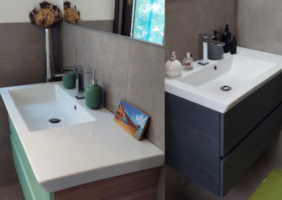 La realizzazione di due bagni moderni a Milano by Idrosanitaria Lecco